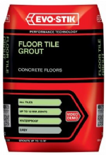 Evo-stik grey floor tile grout from